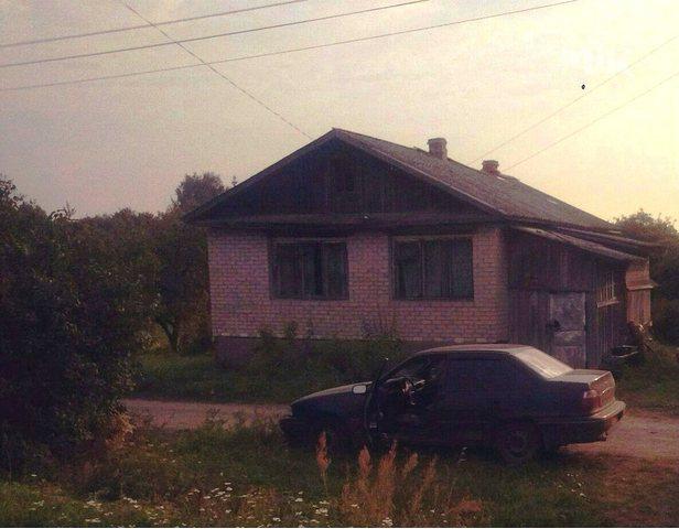 зимний одноэтажный дом из бруса,обложен ки...